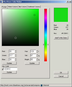 Photoshop-like color selector