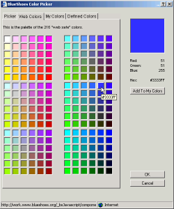 Choose a web-safe colour